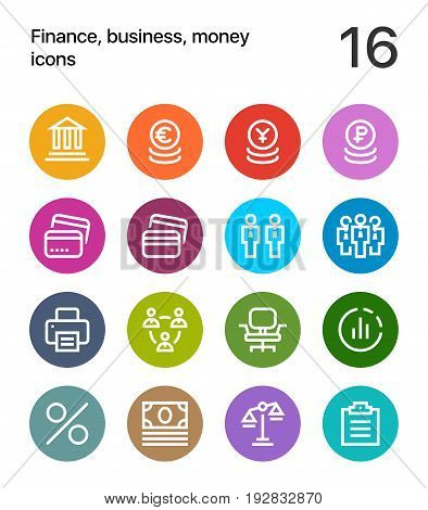 Colorful Finance, business, money icons for web and mobile design pack 3