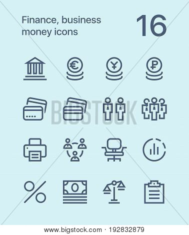 Outline Finance, business, money icons for web and mobile design pack 3