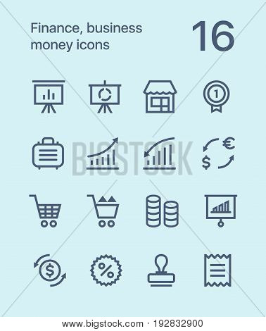 Outline Finance, business, money icons for web and mobile design pack 4