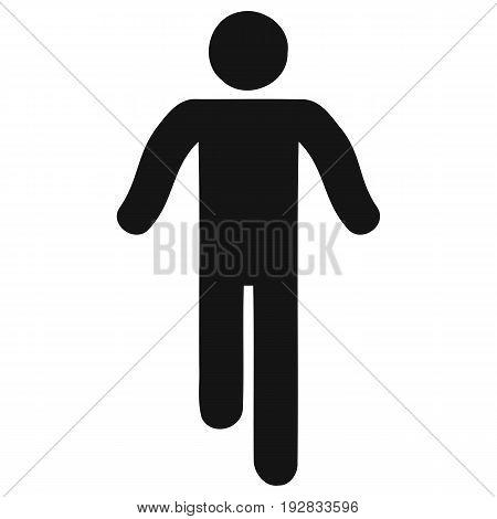 Walking Stick Figure Icon men stick figure vector symbol