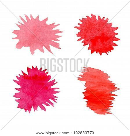 Abstract Splatter Red Color