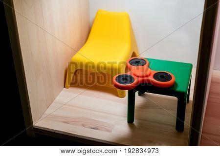 Orange Plastic Hand Spinner