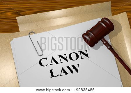 Canon Law Concept