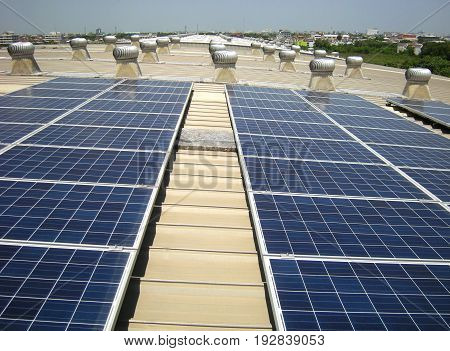 Solar PV Rooftop Roof Ventilation Fans Background poster