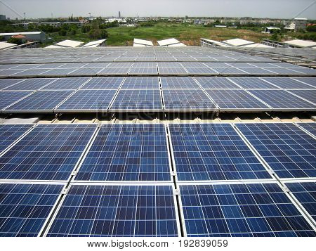 Large Scale Solar PV Rooftop System on curve roof