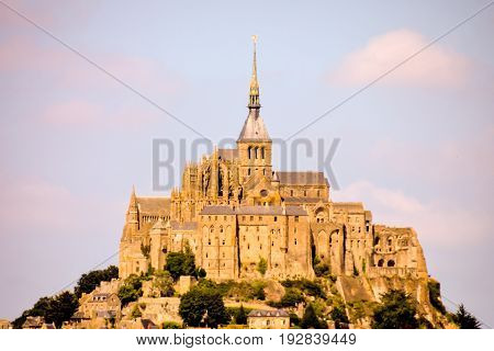 Le Mont Saint-michel Tidal Island Normandy Northern France