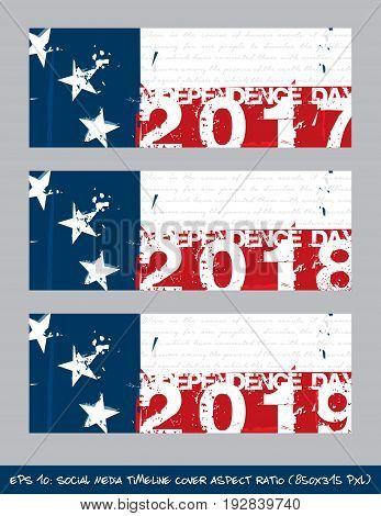 Betsy Ross Flag Independence Day Timeline Cover - Artistic Brush Strokes And Splashes
