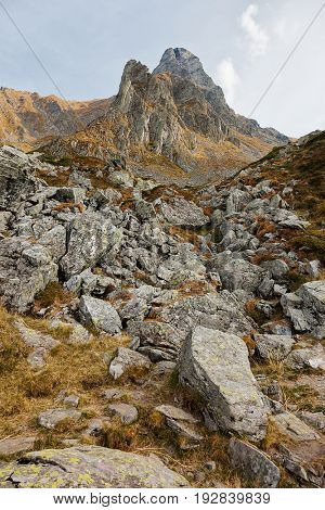 Beautiful mountain landscape in Fagaras Mountains, Romania