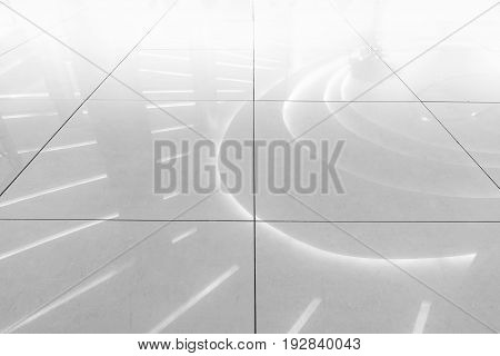 Flooring ceramic tiles of hall room. Abstract background.