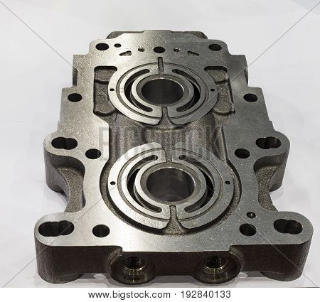 Pump casting part manufacturing by high accuracy cnc machining machinewith rust protectionoil coated high technology automotive part industrial precision partcutting processcasting process