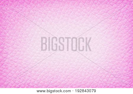 Closeup surface of pink leather of sofa texture background