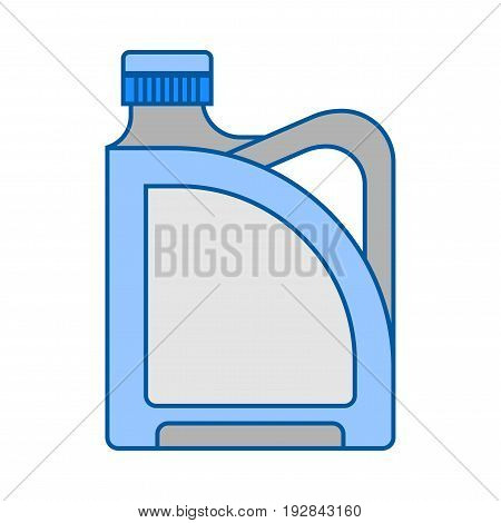 Blank plastic canister, flat icon. Packaging for oil, water and liquids. Object for design