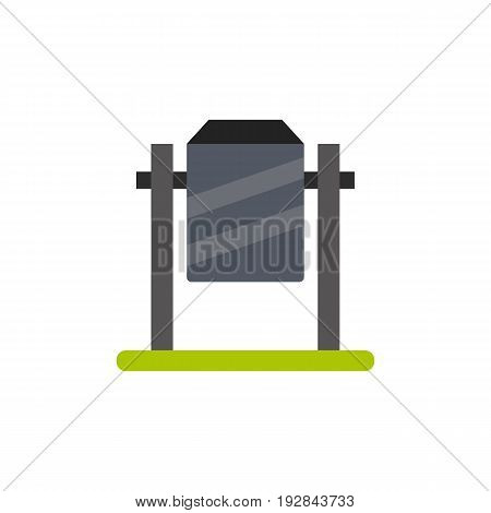 Vector icon of empty garbage can. Public utilities, waste management, trash bin. Garbage collectors concept. Can be used for topics like environment, sanitation, urban services