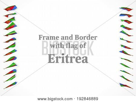 Frame And Border With Flag Of Eritrea. 3D Illustration