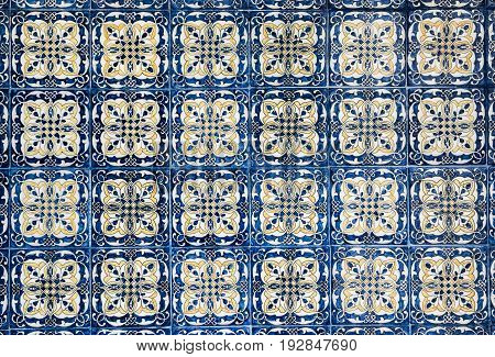 highly detailed image of vintage mexican tile background