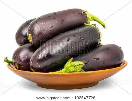 Eggplant . Isolation On A White Background