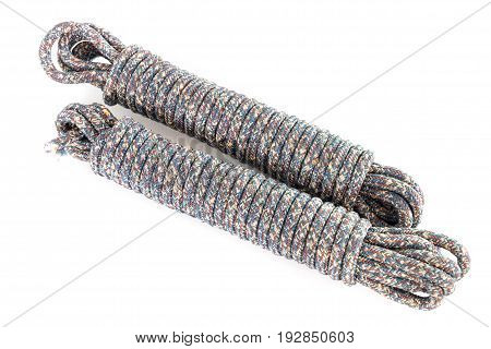 Twisted Thick Rope On White.