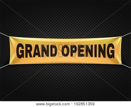 Grand opening banner vector text background. Announcement for business grand open illustration