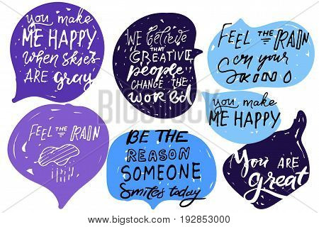 .Quote poster, Inspirational words, Motivate saying. Feel the rain on your skin. Be the reason someone smiles today.You make me happy when the skies are gray