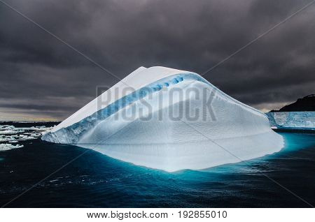 Iceberg floating off the Coast of Brown Bluff, on the tip of the Antarctic Peninsula
