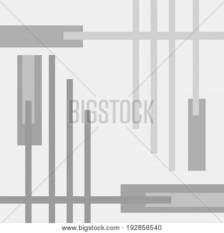 Severe geometric vector background in gray hues