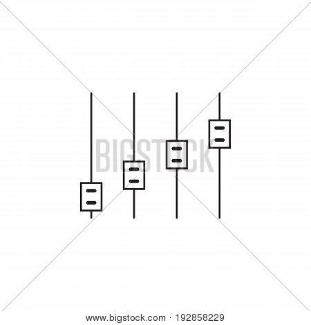 slider bar thin line icon, settings outline vector logo illustration, linear pictogram isolated on white