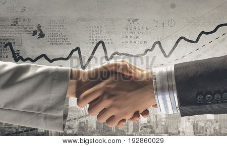 Business handshake as symbol for partnership