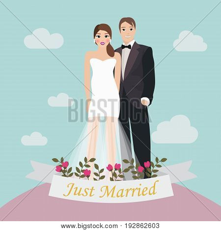 The Bride and Groom just married brochure