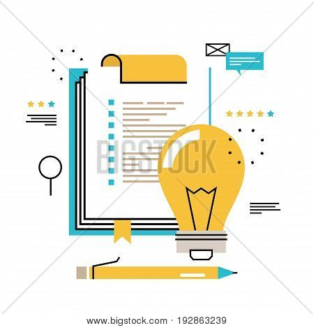 Questionnaire clipboard, evaluation, clipboard with blank checklist form, planning project, assessment, analyzing, data collecting vector illustration design for mobile and web graphics