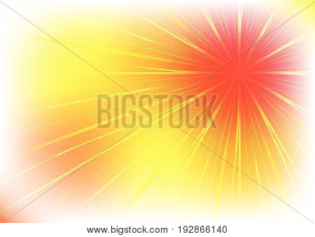 Illustration of an abstract sunrise vector.  Bright sunbeams background.