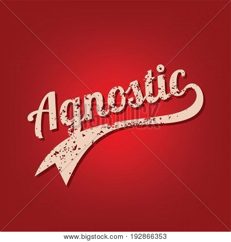 agnostic grungy theme varsity retro text vector art