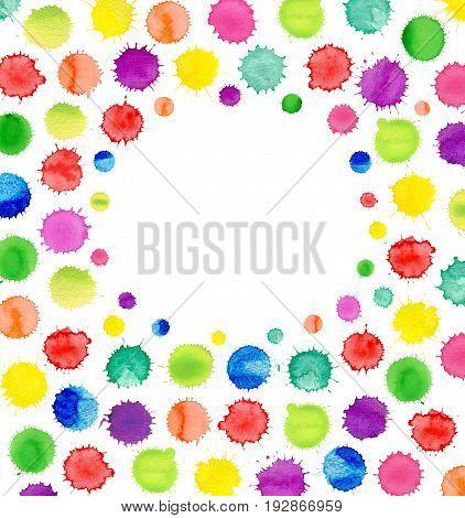 Colorful Watercolor Confetti Background