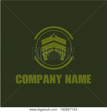 Save Download Preview Military and armored vehicles logo and badges. Graphic template. Vector illustration