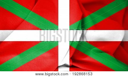 3D Flag Of Basque Country, Spain.