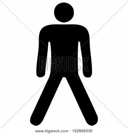 Stick Figure standing flat loneliness simplicity sparse