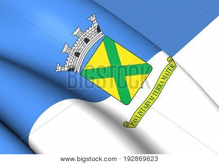 3D Flag Of Santo Andre (sao Paulo State), Brazil.