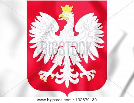 3D Poland Coat Of Arms.