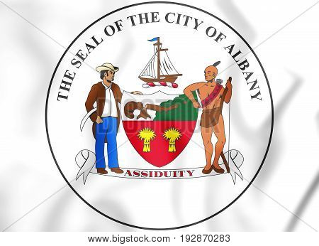 3D Seal Of Albany (new York State), Usa.