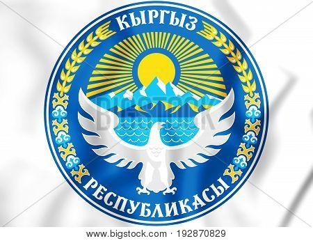 3D Emblem Of The Kyrgyzstan.