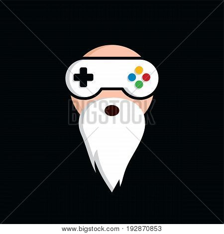 Game Guru - Master Gamer - Video Game Theme Logo - Logotype Vector