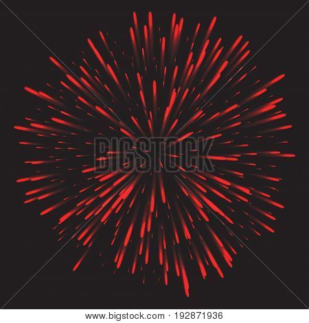 Glowing collection. Firework, light effects isolated on dark background. Transparent sunlight lens flare, stars. Shining elements. Holiday fireworks. Vector illustration.