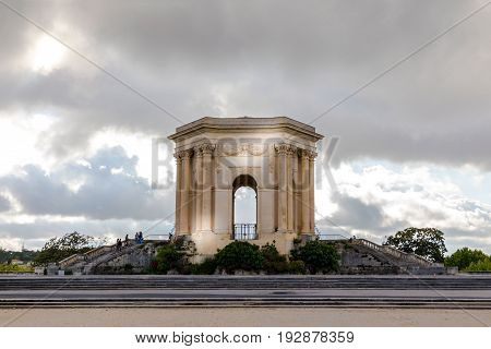 Main basin of Peyrou in promenade park of Peyrou at Montpellier southern France