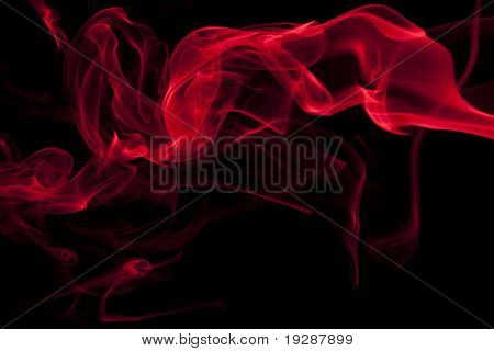 Smoke wisp in bright color red