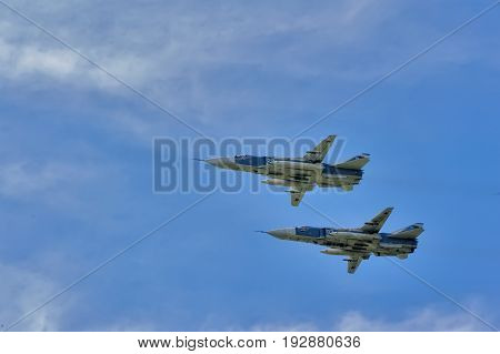 Sukhoi Su-24 Russian Supersonic Front-line Bombers