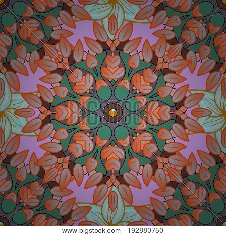 Weave design element. Vector outline Mandala on background. Yoga logo background for meditation poster. Unusual flower shape oriental line. Anti-stress therapy pattern. Decorative round ornament.