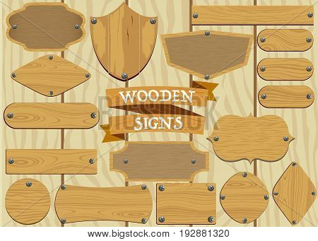 Collection of Wooden Signs in different styles