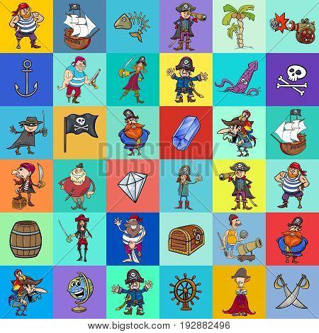 Decorative Pattern Design With Pirate