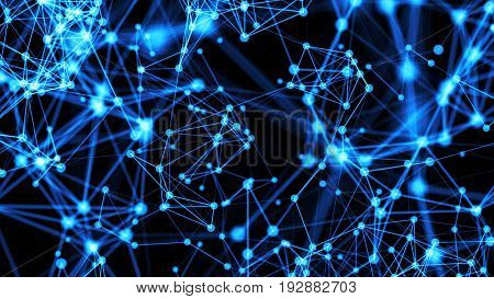 Abstract Connected Dots. Technology Background