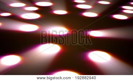 Abstract Background With Disco Floor. 3D Render