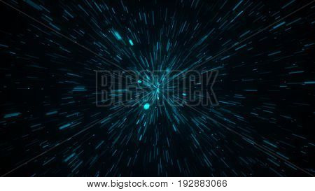 Abstract Background With Explosion Stars